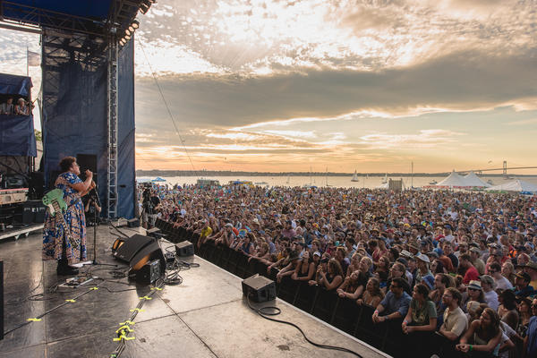 Against a breathtaking sunset, Alabama Shakes brought the 2016 Newport Folk Festival to a close.