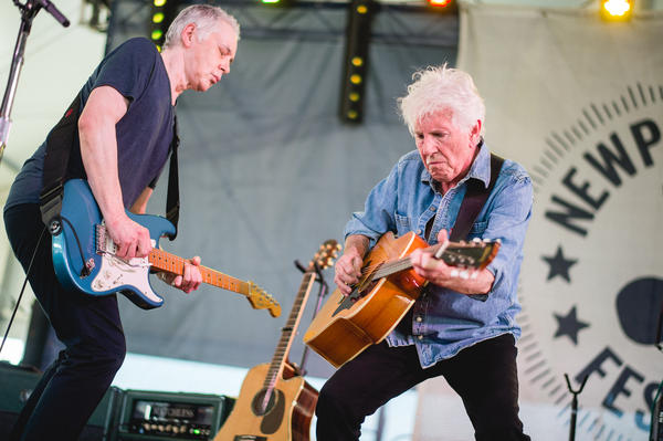 Graham Nash gave a mighty performance at Newport on Saturday.