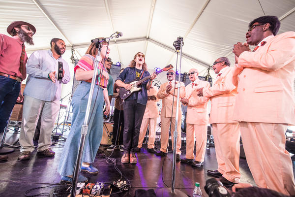 Phil Cook's Southland Revue performance included special guests The Blind Boys of Alabama and Amelia Meath of Sylvan Esso.