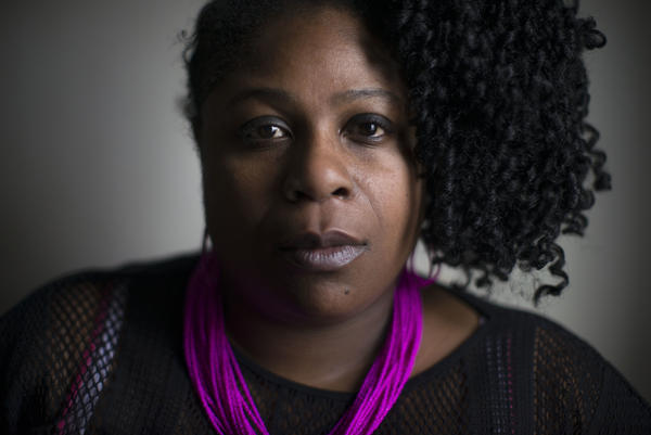Samaria Rice, mother of Tamir Rice, who was killed by a policeman at the local community center.
