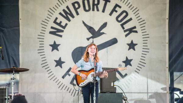 Julien Baker performs at the 2016 Newport Folk Festival.