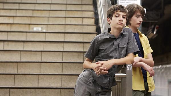 Tony (Michael Barbieri) and Jake (Theo Taplitz) in <em>Little Men. </em>