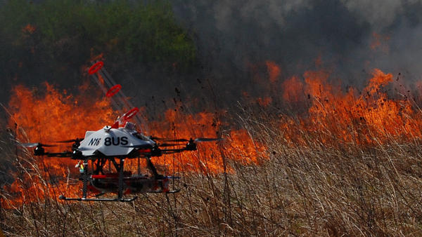 The UNL NIMBUS Lab drone team hopes their technology will help ensure safer prescribed burns by keeping firefighters out of dangerous terrain.