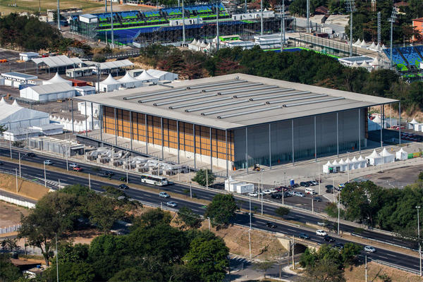 File photo of Arena da Juventude, or Youth Arena, the venue for basketball at the Olympic Games in Rio de Janeiro, Razil.
