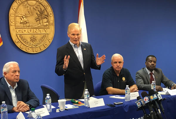 Sen. Bill Nelson meets with elected officials in Miami to call on Congress to fund Zika research and prevention.