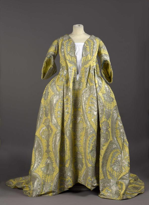 "This rare 1700s <em>robe volante, </em>or ""flying dress,"" was recently purchased by Palais Galliera, a fashion museum in Paris."