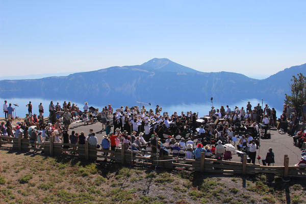 The world premiere of ''Natural History'' took place in front of an invited audience at the Watchman Overlook at the rim of Crater Lake.