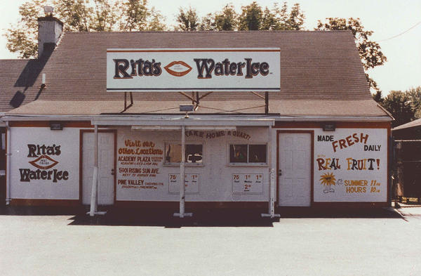 The original Rita's Water Ice in Bensalem, Pa. Now, there are over 600 stores selling water ice and other desserts across the country.