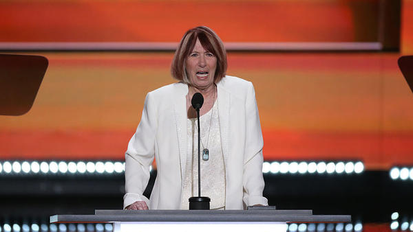 Pat Smith speaks during the Republican National Convention in Cleveland last month. Smith's son Sean was killed in an attack on the U.S. Consulate in Benghazi, Libya, in 2012.