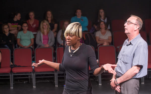 Tonya Bredensteiner and Richard Bonchosky perform in a play as part of their recovery from addiction.