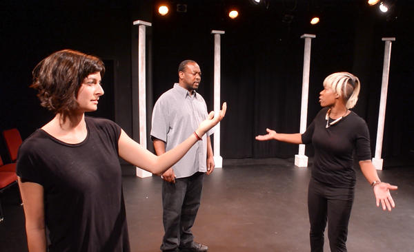 Lesli Butler, Aaron Tuttle and Tonya Bredensteiner perform on the campus of the University of Indianapolis. A esearcher in Indiana is reviving the idea that performing on stage can help people recover from addiction to alcohol and drugs.