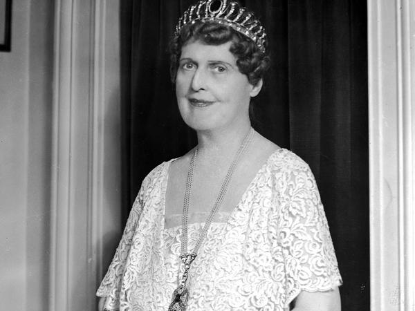 Florence Foster Jenkins, known for her lack of skill as a singer, photographed in the 1920s.