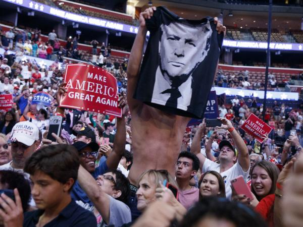 Donald Trump supporters at a campaign rally in Sunrise, Fla., on Wednesday.