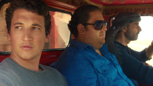 Miles Teller and Jonah Hill play war profiteers in director Todd Phillips' <em>War Dogs.</em>