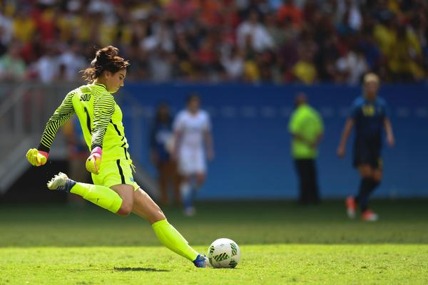 U.S. goalkeeper Hope Solo called the Swedish team 'cowards' after they knocked the top-ranked Americans out of the tournament.
