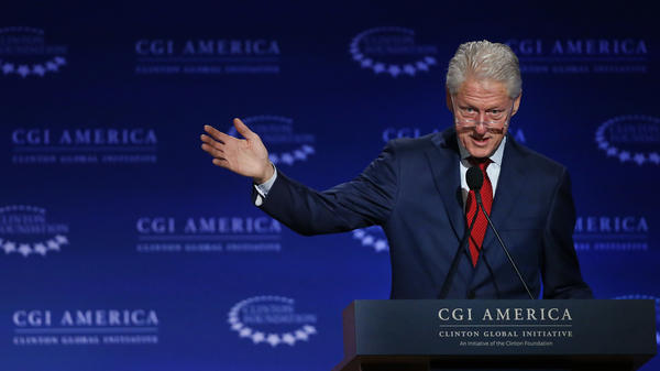 Former President Bill Clinton speaks at an event in Denver for the Clinton Global Initiative America, an initiative of the Clinton Foundation, on June 10, 2015.