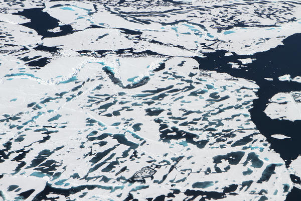 The terrain of Arctic sea ice changes during the summer months, as ridges and melt ponds form and ice floes break apart. A new NASA satellite called ICESat-2, expected to launch in 2018, will measure the height of sea ice year-round.