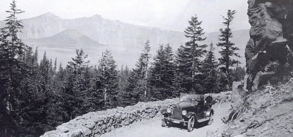 Construction of Rim Road at Crater Lake National Park began in 1913.