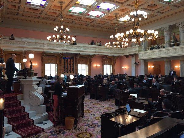 Ohio House in session for SB63, online voter registration, in the Ohio Statehouse