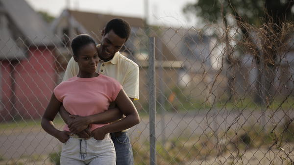 Tika Sumpter and Parker Sawyers in <em>Southside With You.</em>