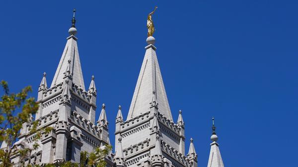 The spires of the historic Salt Lake Temple on April 2, 2016 in Salt Lake City, Utah.