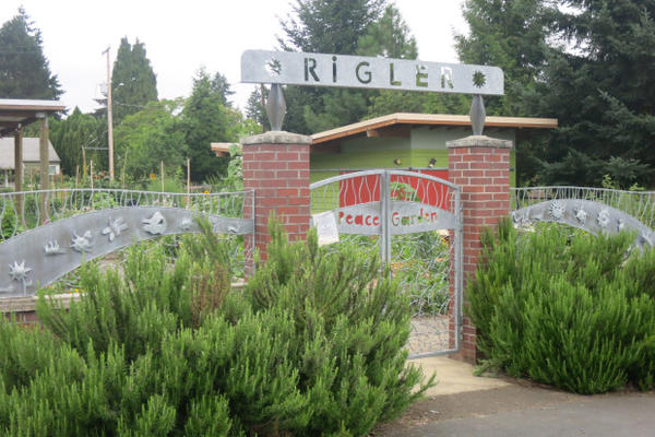 <p>Rigler Elementary School in Northeast Portland is one of more than 70 schools in Oregon's largest district with a community garden.</p>
