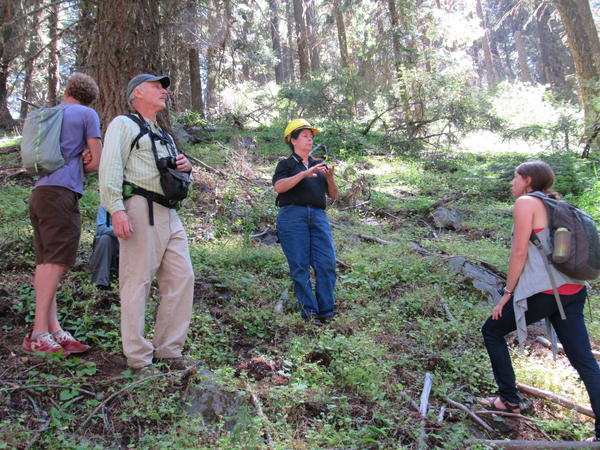 Kristi Mastrofini, BLM field manager, answers questions from community members.