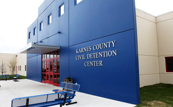 The Karnes County Civil Detention Center is owned by GEO Group, a private company that contracts with U.S. Immigration and Customs Enforcement.