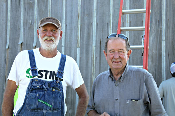 Farm owner Larry Gerdes and tenant Ben Kirrchoff inherited a barn several decades ago that is no longer sturdy enough or large enough for modern farming.