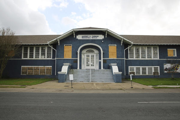 The Harriet Tubman School in the Algiers neighborhood of New Orleans has been closed for repairs since March 2015.