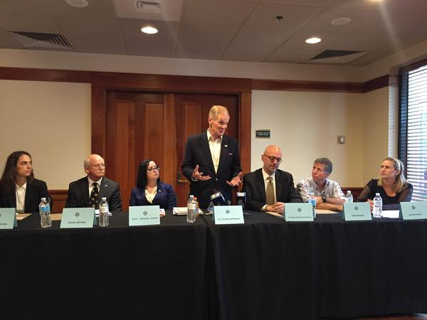 Senator Bill Nelson and Representative Ted Deutch were joined by experts at Wednesday's meeting