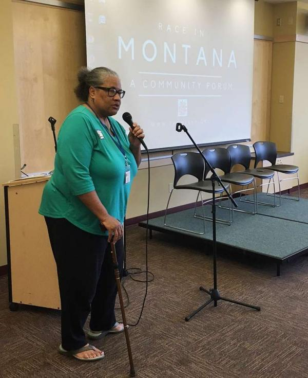 """Judith Heilman, executive director of the Montana Racial Equity Project says, """"the Montana Racial Equity Project is all about education and informing people. And then motivating them to activate. To interrupt."""""""