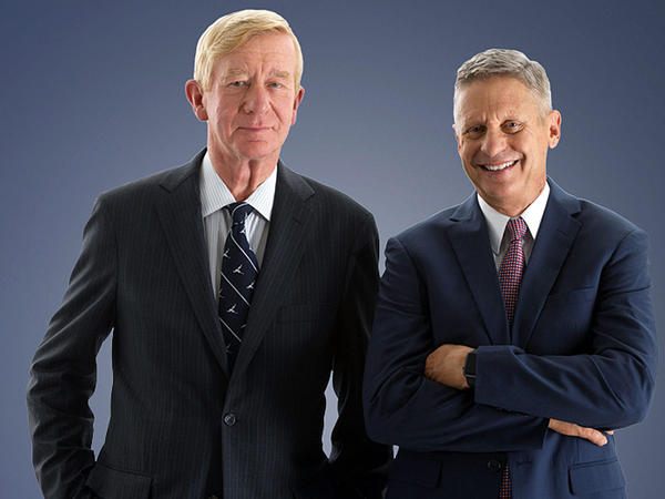 Libertarian presidential nominee Gary Johnson, right, and running mate William Weld, are launching campaign ads in the Northwest.