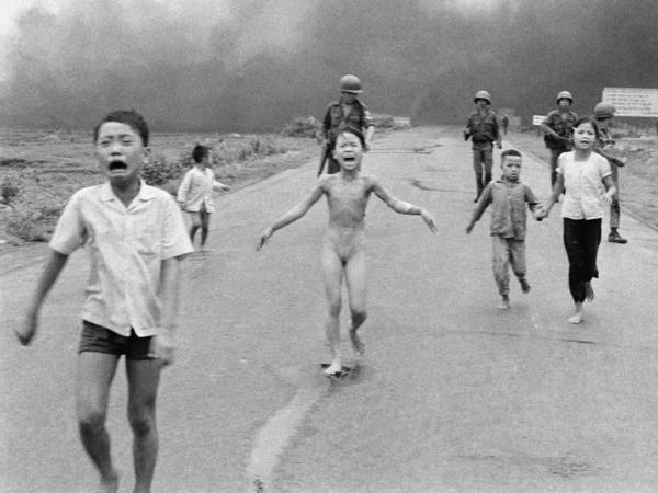 This is a June 8, 1972, file photo of South Vietnamese forces following after terrified children, including 9-year-old Kim Phuc (center). The Pulitzer Prize-winning image is at the center of a heated debate about freedom of speech in Norway after Facebook deleted it from a Norwegian author's page.