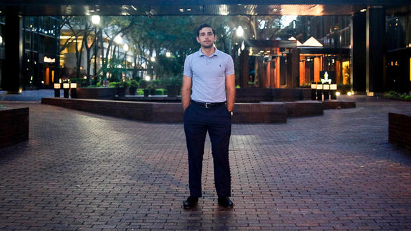 "Zach Lombardo, 26 is an attorney in Tampa, FL. This election, he's voting for Libertarian Gary Johnson. He's not surprised by Trump's use of media in this election noting, ""It's like what 24 hour news coverage plus one,"" referring to social media."