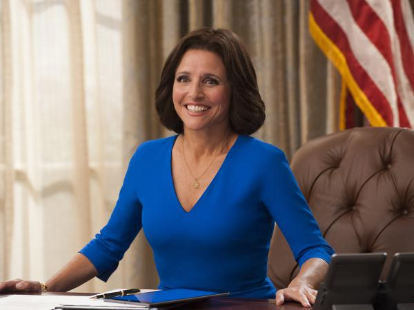 Julia Louis-Dreyfus in <em>Veep</em>.