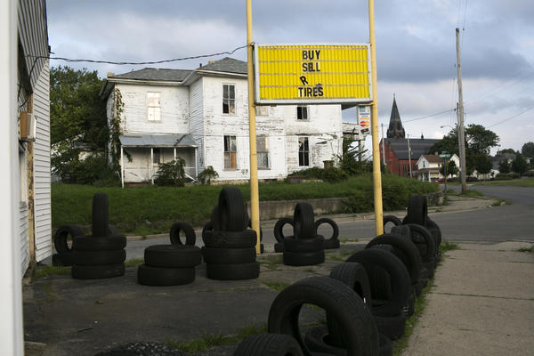 "A tire store on Selma Road in Springfield is near Many Pathways, an addiction recovery center. The center's Charles Rollins says it's in a ""pretty tough neighborhood."""