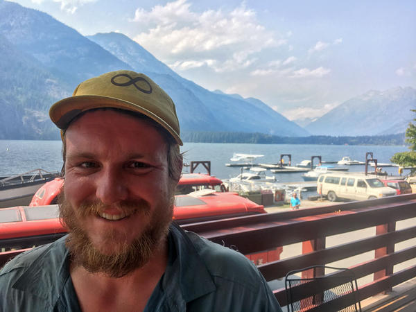 Case Conover has spent about 140 days hiking the Pacific Crest Trail this summer. He was four days from the Canadian border finish line here at Stehekin, Washington.