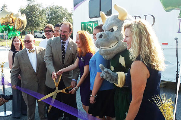 Officials from the Institute and USF Health held a ribbon-cutting ceremony for the Memory Suite.