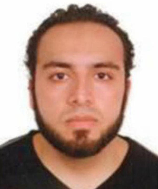 The FBI released this image of Ahmad Khan Rahami during its search for him earlier on Monday.