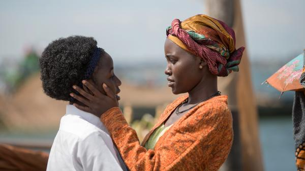 Madina Nalwanga and Lupita Nyong'o star in <em>Queen of Katwe</em>, directed by Mira Nair.