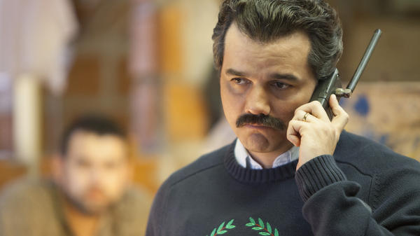 "Brazilian actor Wagner Moura plays Pablo Escobar in Netflix's <em>Narcos</em>. Executive producer Eric Newman says Escobar was ""very likely a sociopath, and certainly a terrorist."""