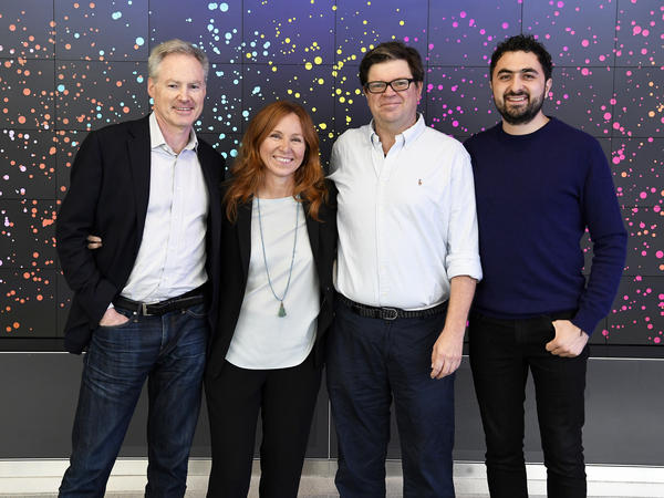 Executives from four of the five founding members of the Partnership on AI (from left): Eric Horvitz of Microsoft, Francesca Rossi of IBM, Yann LeCun of Facebook and Mustafa Suleyman of Google's DeepMind.