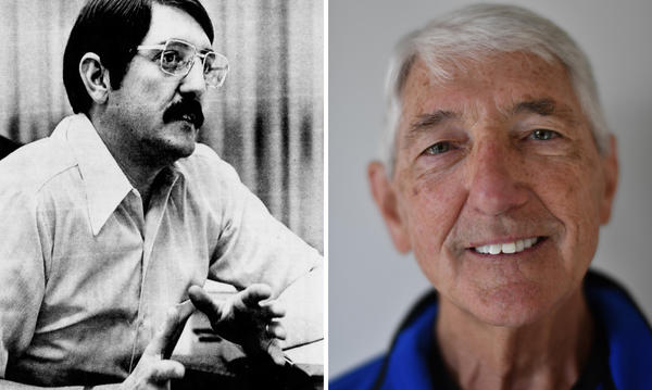 Gary Bryner in 1973 and in 2016.