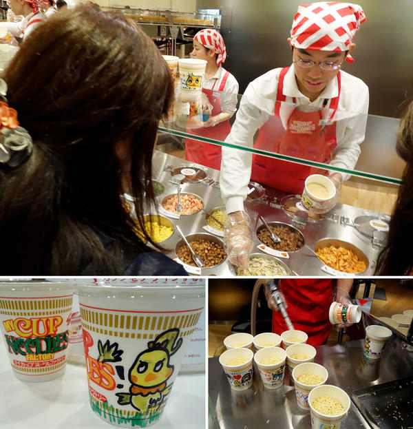 Ramen devotees create their own Cup Noodles concoctions.