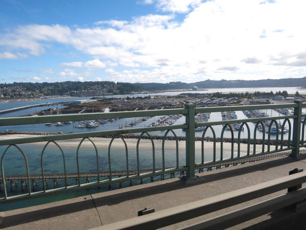 <p>The site of the new OSU research center, as seen from Yaquina Bay Bridge.</p>