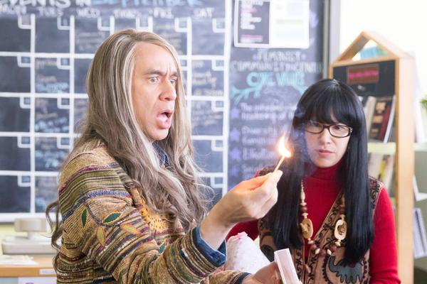 Fred Armisen performs as Candace and Carrie Brownstein as Toni in a <em>Portlandia</em> sketch about two feminist bookstore owners  in Portland.