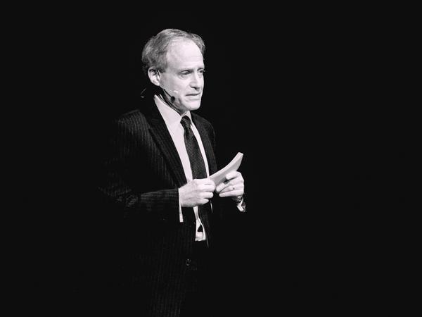 Writer Jeff Kluger speaking at TEDxAsheville.