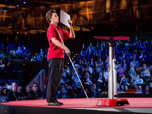 Daniel Kish speaks at TED in 2015.