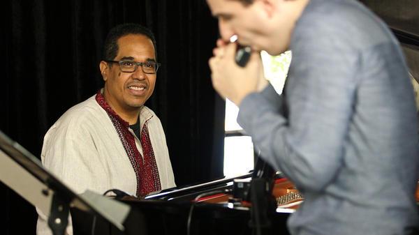 Danilo Pérez performs with Berklee students at the Panama Jazz Festival.